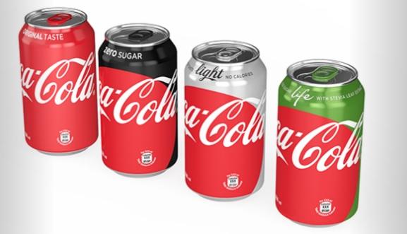 latas cocacola