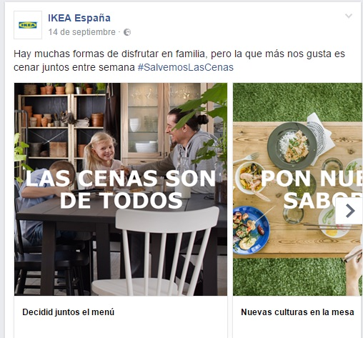 Ikea Carrusel Cenología en Facebook