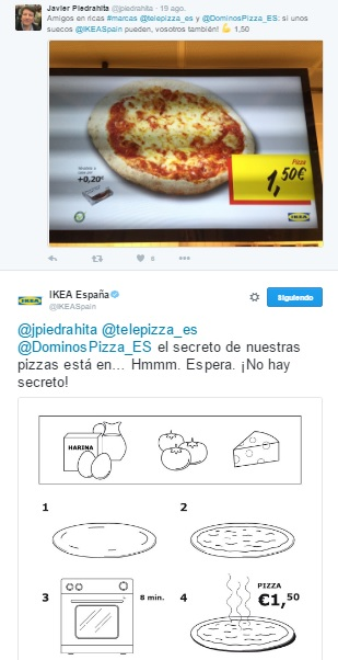 Tweet Ikea respuesta a influencer