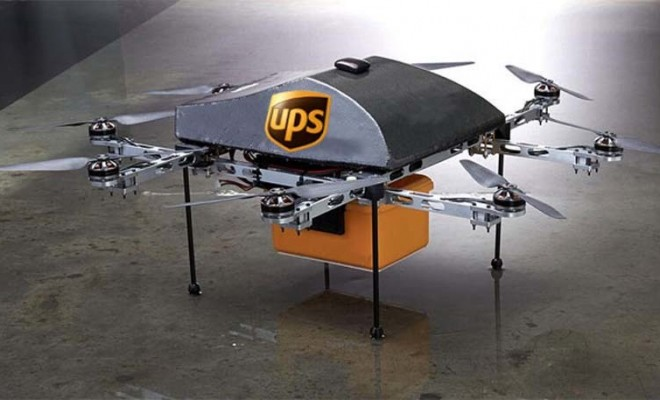 dron logística ups