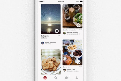 Pinterest ofrece imágenes similares